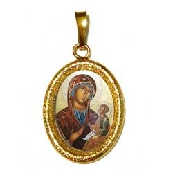 La Madonna di Sclavons su Ciondolo in Argento 925°°° Diamantato