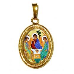 La SS Trinità su Ciondolo in Argento 925°°° Diamantato