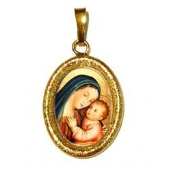 La Madonna del Buon Consiglio su Ciondolo in Argento 925°°° Diamantato