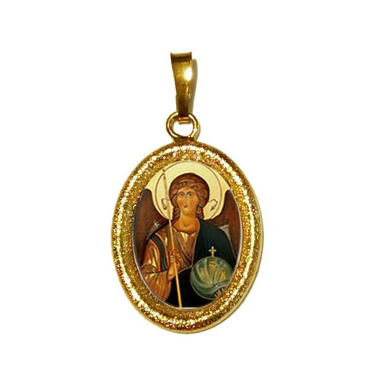 L' Arcangelo Michele su Ciondolo in Argento 925°°° Diamantato