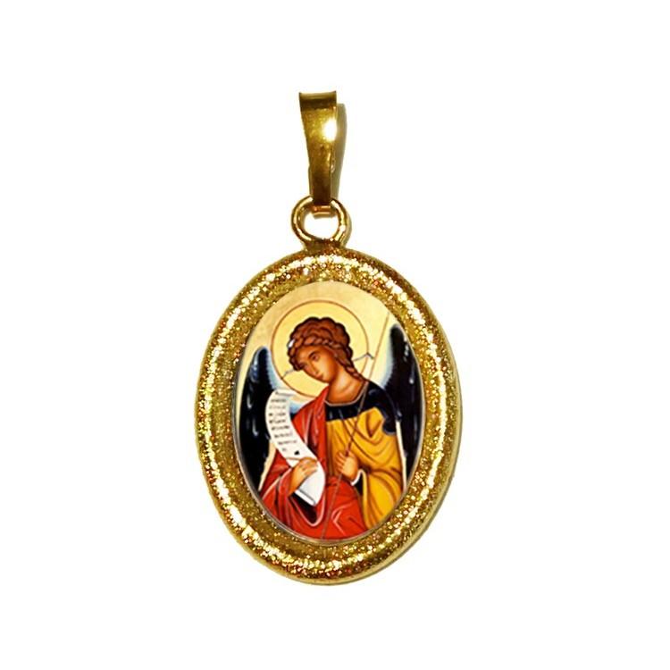 L' Arcangelo Gabrielesu Ciondolo in Argento 925°°° Diamantato