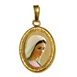 La Madonna di Medjugorje su Ciondolo in Argento 925°°° Diamantato