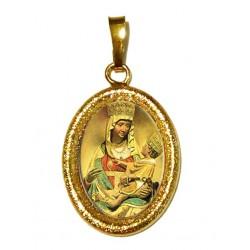 La Madonna di Castelmonte su Ciondolo in Argento 925°°° Diamantato