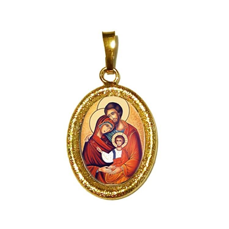 La Sacra Famiglia su Ciondolo in Argento 925°°° Diamantato