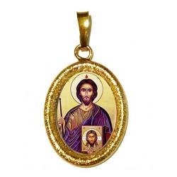 San Giuda Taddeo su Ciondolo in Argento 925°°° Diamantato