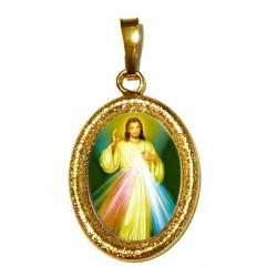 Gesù Misericordioso su Ciondolo in Argento 925°°° Diamantato