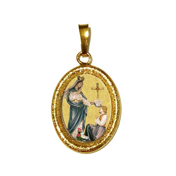 La Madonna di Porzus su Ciondolo in Argento 925°°° Diamantato