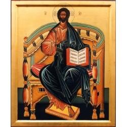 Icona di Cristo in Trono nella Deesis