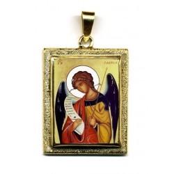 Arcangelo Gabriele su Pendente in Oro 750°°°