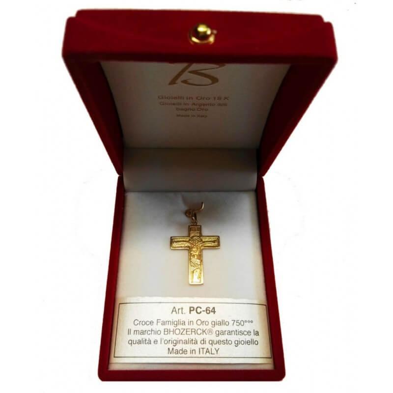 Croce FAMIGLIA (Piccola) in Oro 750°°°