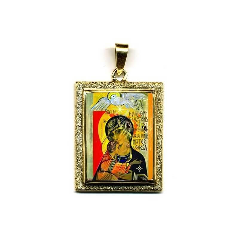 Madonna Terzo Millennio in Oro 750°°° Diamantato
