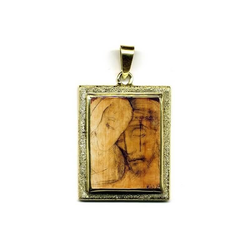 Il Buon Pastore in Oro 750°°°  Diamantato