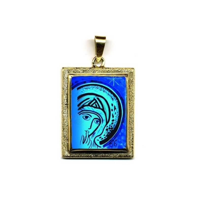 Madonna del Silenzio in Oro 750°°° Diamantato