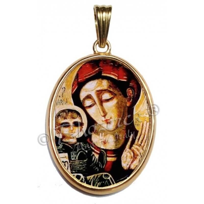 Madonna Spaziale con Bordo Oro 750°°