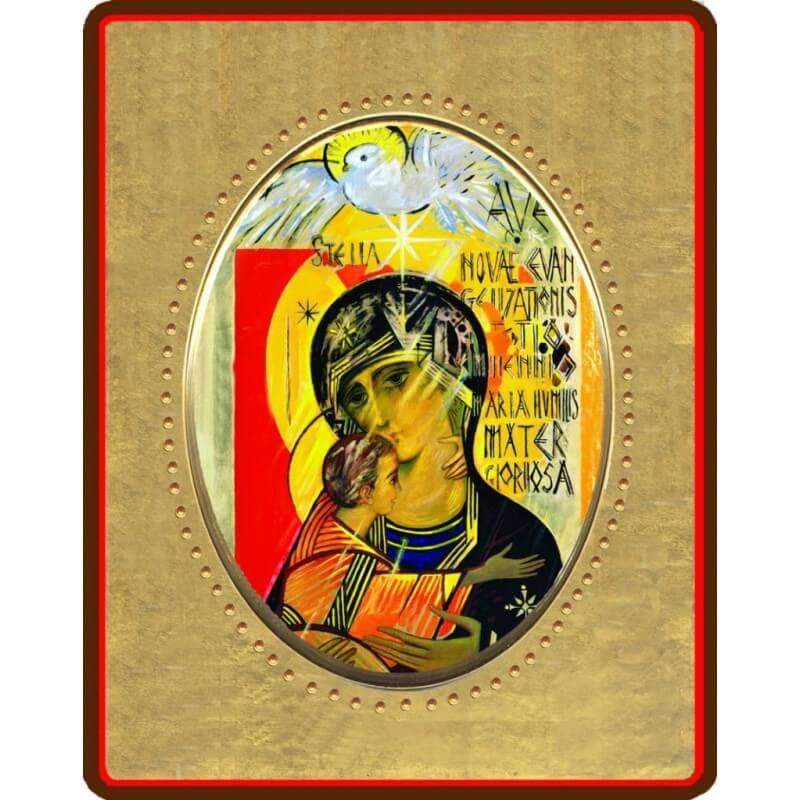 La Madonna Terzo Millennio 8x10x1,3 cm