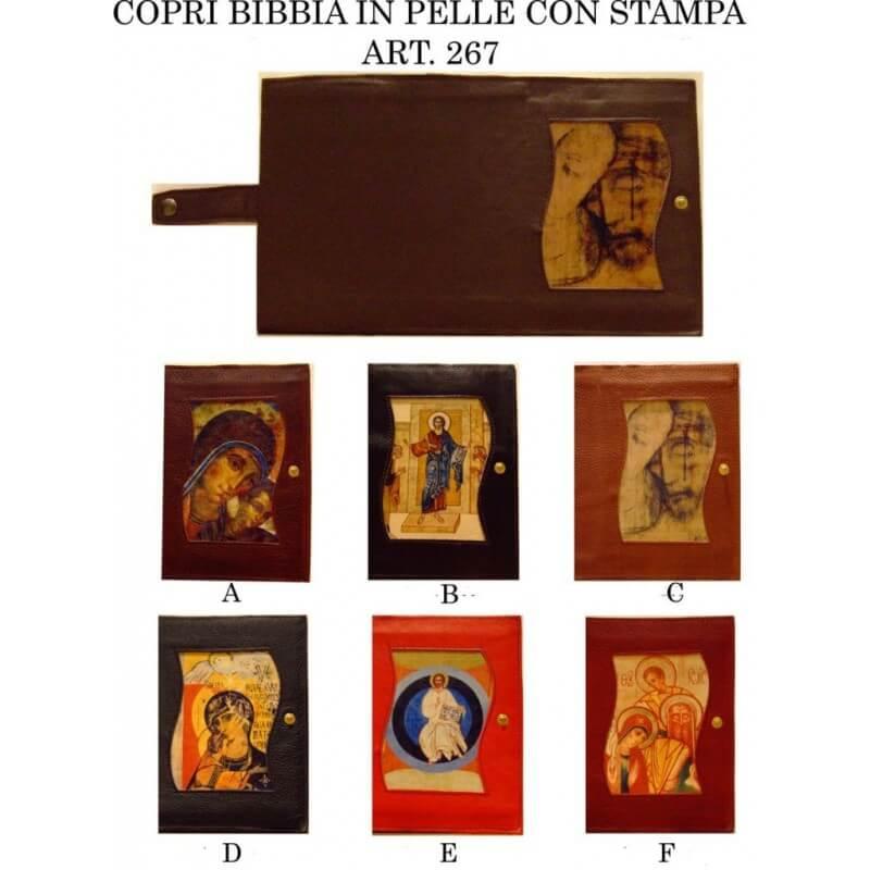 COPRI BIBBIA in Pelle con Stampa