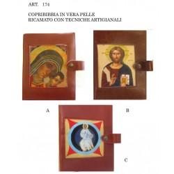 COPRI BIBBIA in Pelle Ricamata a mano