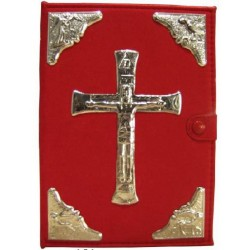 COPRI BIBBIA in Alcantara Rossa