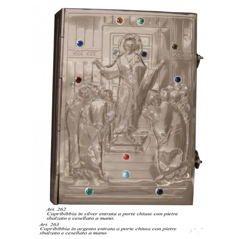 COPRI BIBBIA in Silver sbalzato e cesellato a mano