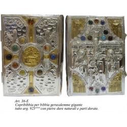 COPRI BIBBIA Gigante in Argento 925 sbalzato e cesellato a mano