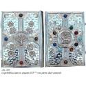 COPRI BIBBIA Grande in Argento 925 con pietre naturali