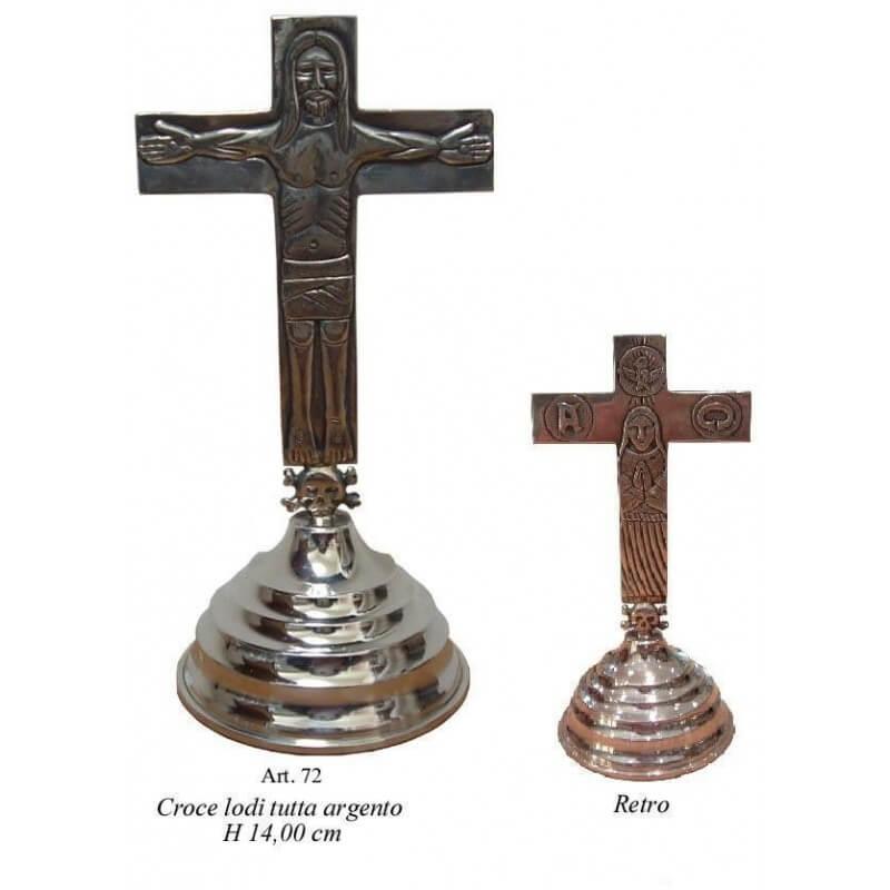 CROCE Traditio per LODI con base, tutta in Argento 925