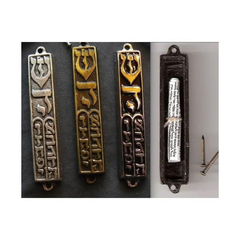 MEZUZAH (stipide) della Porta con Pergamena e chiodini