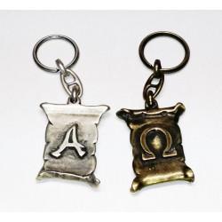 Portachiavi in metallo ALFA e OMEGA