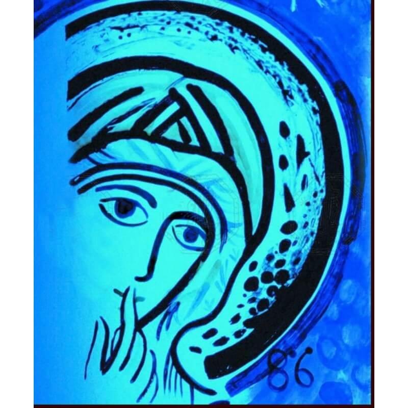 Icona Madonna del Silenzio 10 cm.