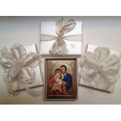 Icona della Sacra Famiglia 10 cm.