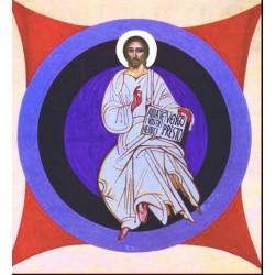 Icona del Cristo in Trono 10 cm.