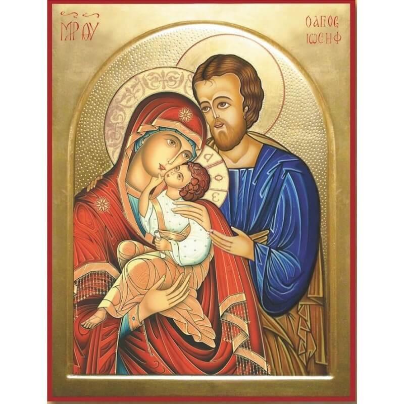 Icona Nuova Sacra Famiglia 10 cm.