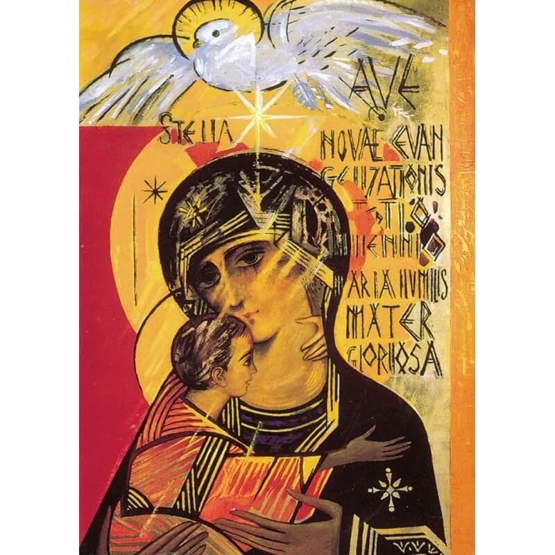 Icona Madonna Terzo Millennio 11 cm.
