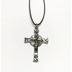 Collana con la Croce GLORIOSA da 4 cm. Cromata