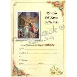 Pergamena In Ricordo del Battesimo (del B. Angelico)