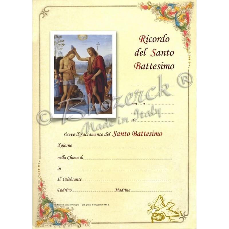 Pergamena In Ricordo del Battesimo (del Perugino)