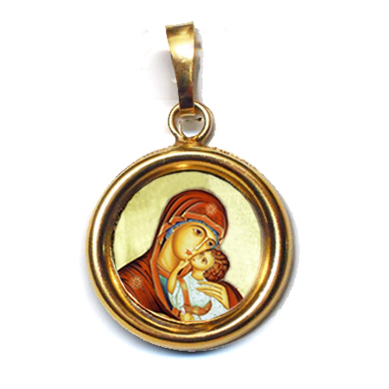 La Madonna dell' Incarnazione su Ciondolo in Argento 925°°° Lucido o Diamantato