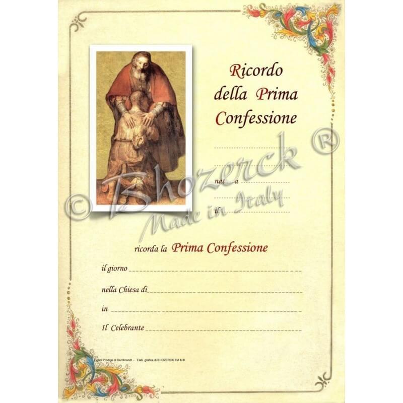 Pergamena In Ricordo della Prima Confessione