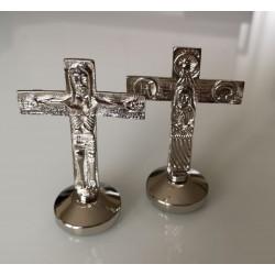 Croce Traditio per lodi da 9 cm. Cromata