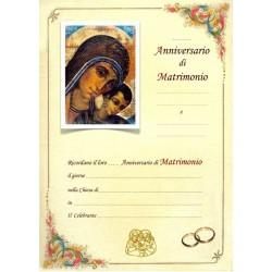 Pergamena per Anniversario Ricordo del Matrimonio