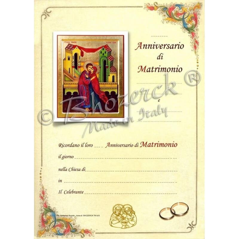Quadri Per Anniversario Di Matrimonio.Pergamena Per Anniversario Di Matrimonio Bh S 80 Scegli Pergamena