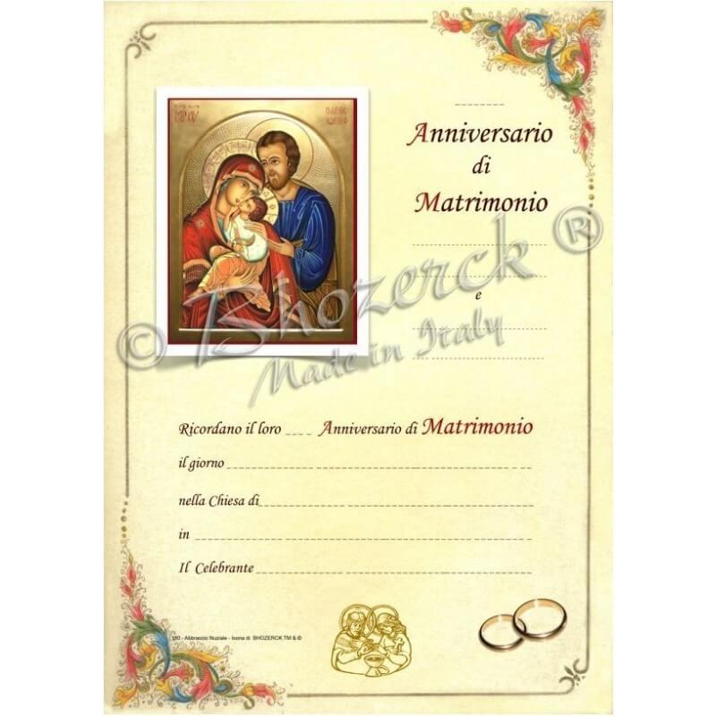 Pergamena per Anniversario del Matrimonio