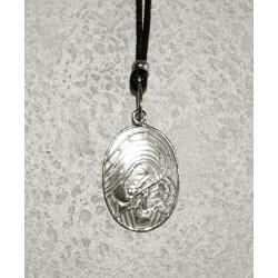 Collana Medaglia Ovale Madonna di Kiko in Argento 925°°°