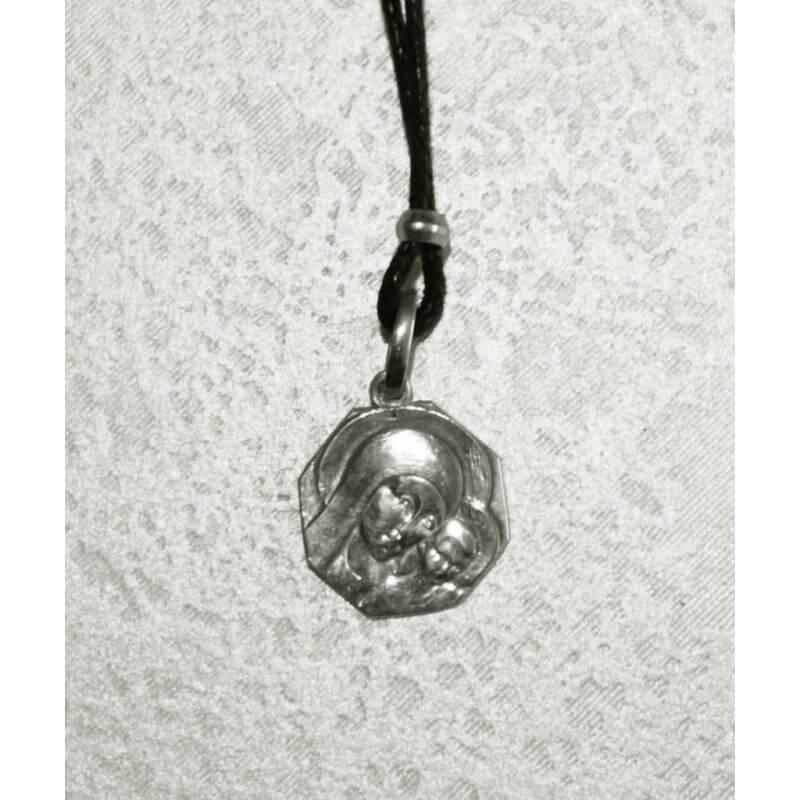 Collana Medaglia Ottagonale Madonna di Kiko (piccola) in Argento 925°°