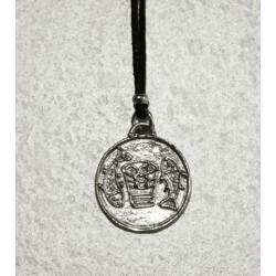 Collana Medaglia PANE e PESCI in Argento 925°°