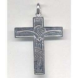 Croce Famigli da tasca 5x7 cm. tutta in Atgento 925°°°°°
