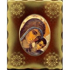 Icona in Porcellana con Madonna del Cammino