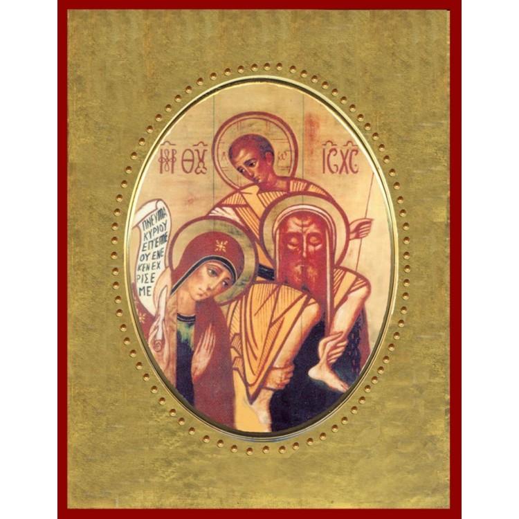 Icona in Porcellana con Sacra Famiglia