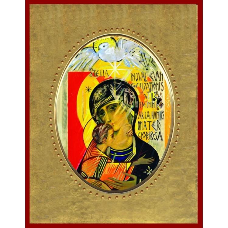 Icona in Porcellana con Madonna del Terzo Millennio