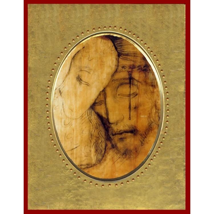 Icona in Porcellana con il Buon Pastore